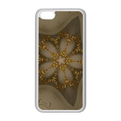 Golden Flower Star Floral Kaleidoscopic Design Apple Iphone 5c Seamless Case (white) by yoursparklingshop