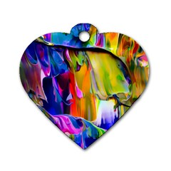 Abstract Acryl Art Dog Tag Heart (two Sides) by tarastyle