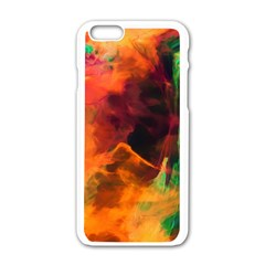 Abstract Acryl Art Apple Iphone 6/6s White Enamel Case by tarastyle
