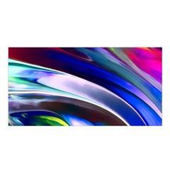 Abstract Acryl Art Satin Shawl by tarastyle