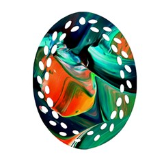 Abstract Acryl Art Oval Filigree Ornament (two Sides) by tarastyle