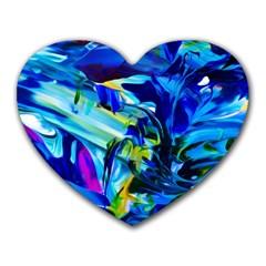 Abstract Acryl Art Heart Mousepads by tarastyle
