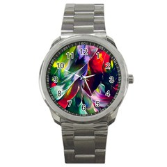 Abstract Acryl Art Sport Metal Watch by tarastyle