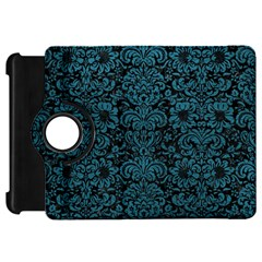 Damask2 Black Marble & Teal Leather (r) Kindle Fire Hd 7  by trendistuff