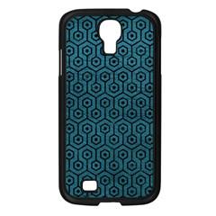 Hexagon1 Black Marble & Teal Leather Samsung Galaxy S4 I9500/ I9505 Case (black) by trendistuff