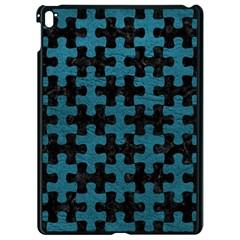 Puzzle1 Black Marble & Teal Leather Apple Ipad Pro 9 7   Black Seamless Case by trendistuff