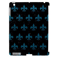 Royal1 Black Marble & Teal Leather Apple Ipad 3/4 Hardshell Case (compatible With Smart Cover) by trendistuff