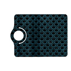 Scales2 Black Marble & Teal Leather (r) Kindle Fire Hd (2013) Flip 360 Case by trendistuff