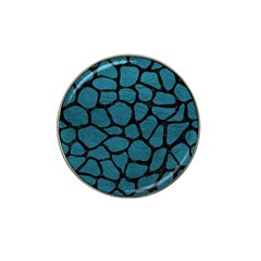 Skin1 Black Marble & Teal Leather (r) Hat Clip Ball Marker (10 Pack) by trendistuff