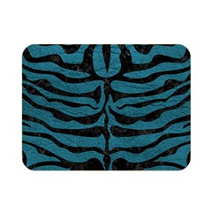 Skin2 Black Marble & Teal Leather Double Sided Flano Blanket (mini)  by trendistuff