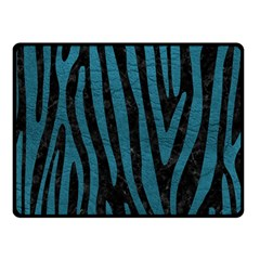 Skin4 Black Marble & Teal Leather Double Sided Fleece Blanket (small)  by trendistuff