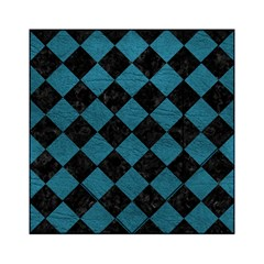 Square2 Black Marble & Teal Leather Acrylic Tangram Puzzle (6  X 6 ) by trendistuff