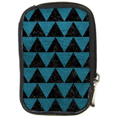 Triangle2 Black Marble & Teal Leather Compact Camera Cases by trendistuff