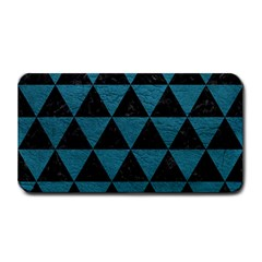 Triangle3 Black Marble & Teal Leather Medium Bar Mats by trendistuff