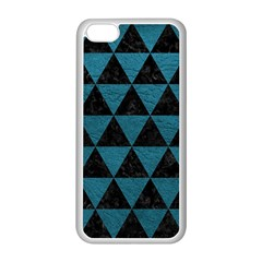Triangle3 Black Marble & Teal Leather Apple Iphone 5c Seamless Case (white) by trendistuff