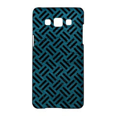 Woven2 Black Marble & Teal Leather Samsung Galaxy A5 Hardshell Case  by trendistuff