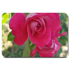 Romantic Red Rose Photography Large Doormat  by yoursparklingshop