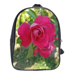 Romantic Red Rose Photography School Bag (xl) by yoursparklingshop