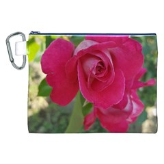 Romantic Red Rose Photography Canvas Cosmetic Bag (xxl) by yoursparklingshop