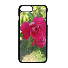 Romantic Red Rose Photography Apple Iphone 8 Plus Seamless Case (black)