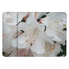 Floral Design White Flowers Photography Samsung Galaxy Tab 8 9  P7300 Flip Case by yoursparklingshop