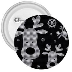 Cute Reindeer  3  Buttons by Valentinaart