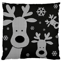 Cute Reindeer  Large Cushion Case (one Side) by Valentinaart
