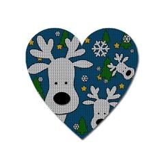 Cute Reindeer  Heart Magnet by Valentinaart