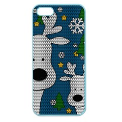 Cute Reindeer  Apple Seamless Iphone 5 Case (color) by Valentinaart