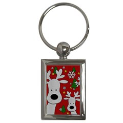 Cute Reindeer  Key Chains (rectangle)  by Valentinaart