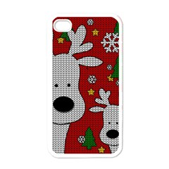 Cute Reindeer  Apple Iphone 4 Case (white) by Valentinaart