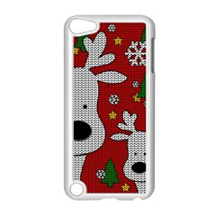 Cute Reindeer  Apple Ipod Touch 5 Case (white) by Valentinaart