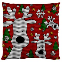 Cute Reindeer  Large Flano Cushion Case (two Sides) by Valentinaart