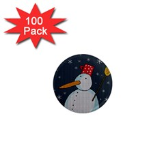 Snowman 1  Mini Magnets (100 Pack)  by Valentinaart