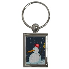 Snowman Key Chains (rectangle)  by Valentinaart