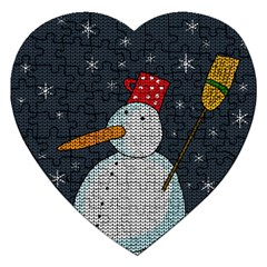 Snowman Jigsaw Puzzle (heart) by Valentinaart