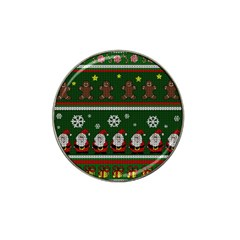 Ugly Christmas Sweater Hat Clip Ball Marker (4 Pack) by Valentinaart