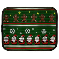 Ugly Christmas Sweater Netbook Case (large) by Valentinaart