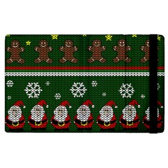 Ugly Christmas Sweater Apple Ipad 3/4 Flip Case by Valentinaart