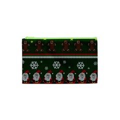 Ugly Christmas Sweater Cosmetic Bag (xs) by Valentinaart