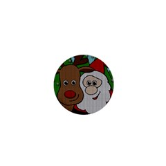 Santa And Rudolph Selfie  1  Mini Buttons by Valentinaart
