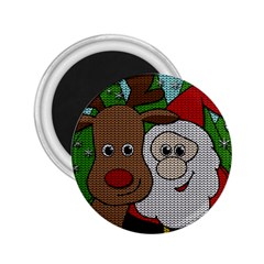 Santa And Rudolph Selfie  2 25  Magnets by Valentinaart