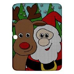 Santa And Rudolph Selfie  Samsung Galaxy Tab 3 (10 1 ) P5200 Hardshell Case  by Valentinaart