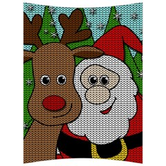 Santa And Rudolph Selfie  Back Support Cushion by Valentinaart