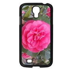 Pink Flower Japanese Tea Rose Floral Design Samsung Galaxy S4 I9500/ I9505 Case (black) by yoursparklingshop