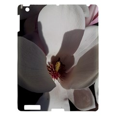 Magnolia Floral Flower Pink White Apple Ipad 3/4 Hardshell Case by yoursparklingshop