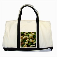 Cheese And Peppers Green Yellow Funny Design Two Tone Tote Bag by yoursparklingshop