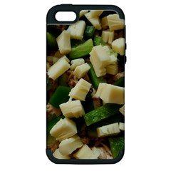Cheese And Peppers Green Yellow Funny Design Apple Iphone 5 Hardshell Case (pc+silicone) by yoursparklingshop
