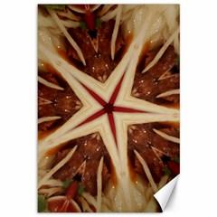 Spaghetti Italian Pasta Kaleidoscope Funny Food Star Design Canvas 12  X 18   by yoursparklingshop