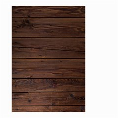Rustic Dark Brown Wood Wooden Fence Background Elegant Small Garden Flag (two Sides) by yoursparklingshop